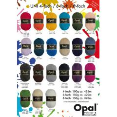 Opal Uni 6-fach 150g andere Farbe, bitte Nr. angeben